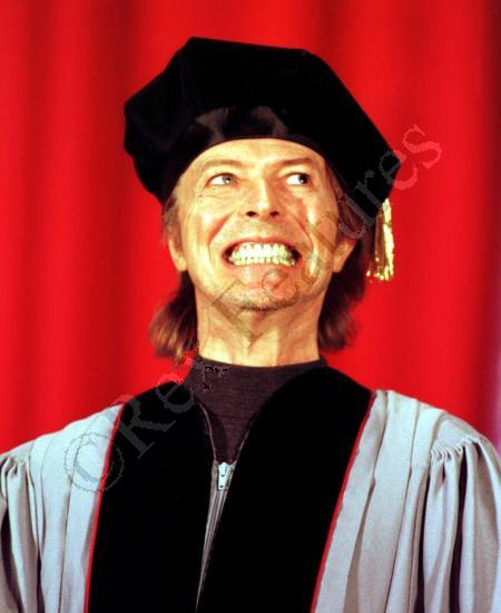 David Bowie Receives An Honorary Degree At Berklee College Of Music Boston