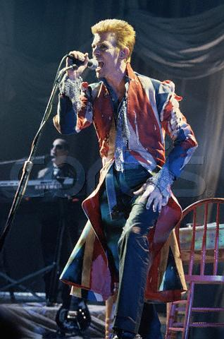 "David Bowie at ""Earthling"" Tour"