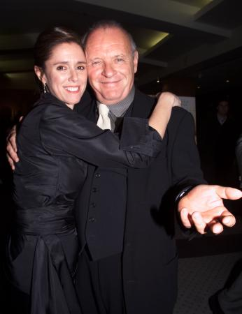 LOS ANGELES, CALIFORNIA - Actor Anthony Hopkins poses with director Julie Taymor at the premiere of their new drama film 'Titus,' December 14 in Beverly Hills. The film is based on the story of the great Roman general Titus Andronicus and opens in New York and Los Angeles December 25. Photo by Rose Prouser (Reuters)